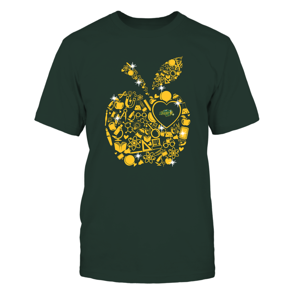 North Dakota State Bison - Teacher Things Inside Apple - Solid Front picture