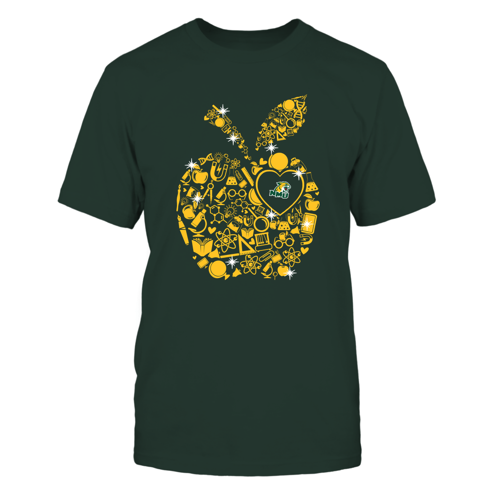 Northern Michigan Wildcats - Teacher Things Inside Apple - Solid Front picture