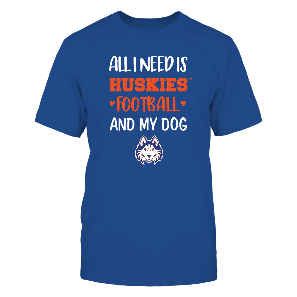 Houston Baptist Huskies - All I Need - Football and Dog Front picture
