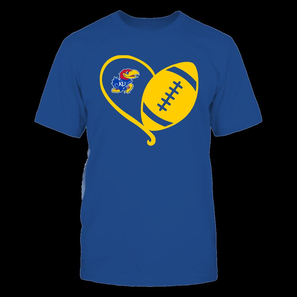Kansas Jayhawks - Half Football Heart - Team Front picture