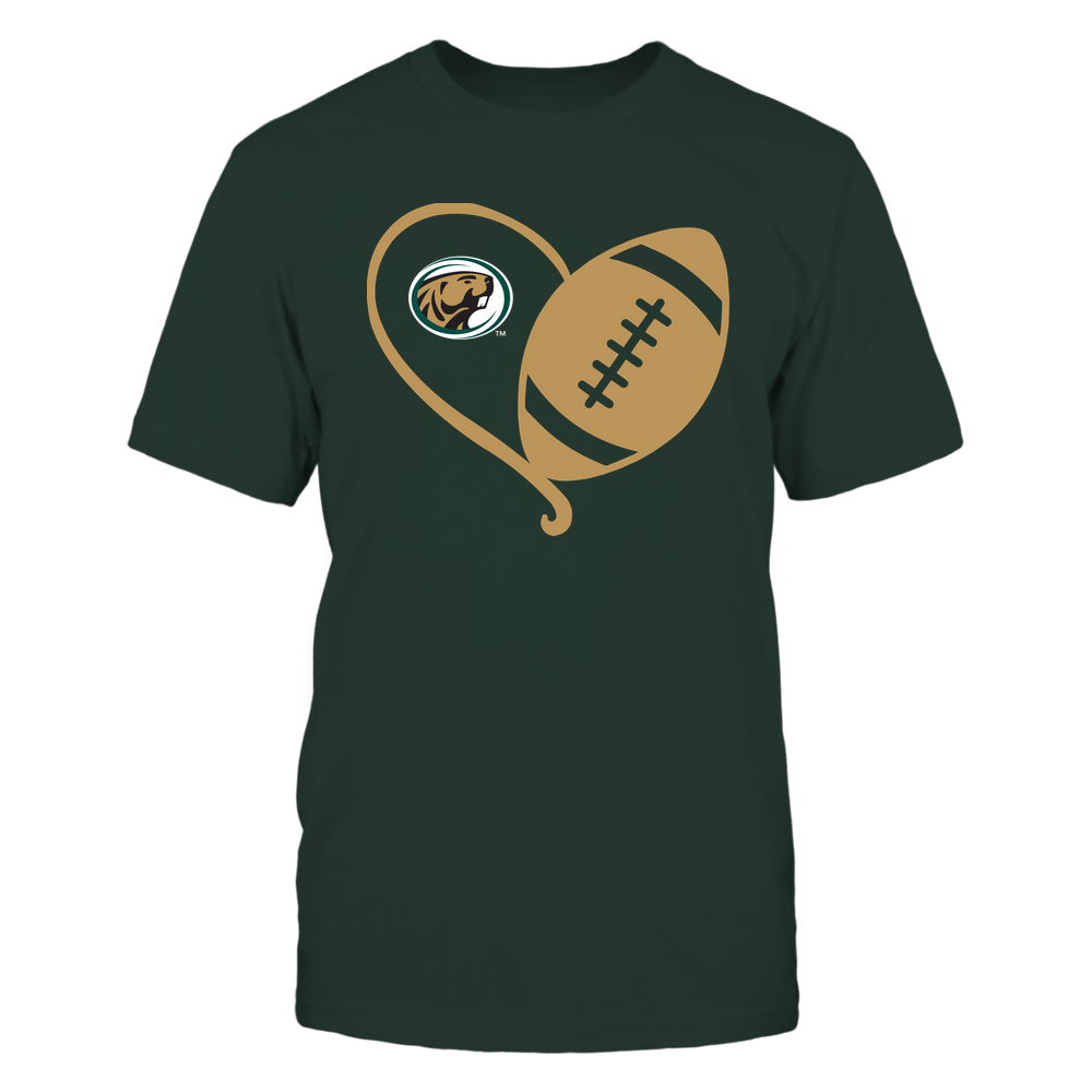 Bemidji State Beavers - Half Football Heart - Team Front picture