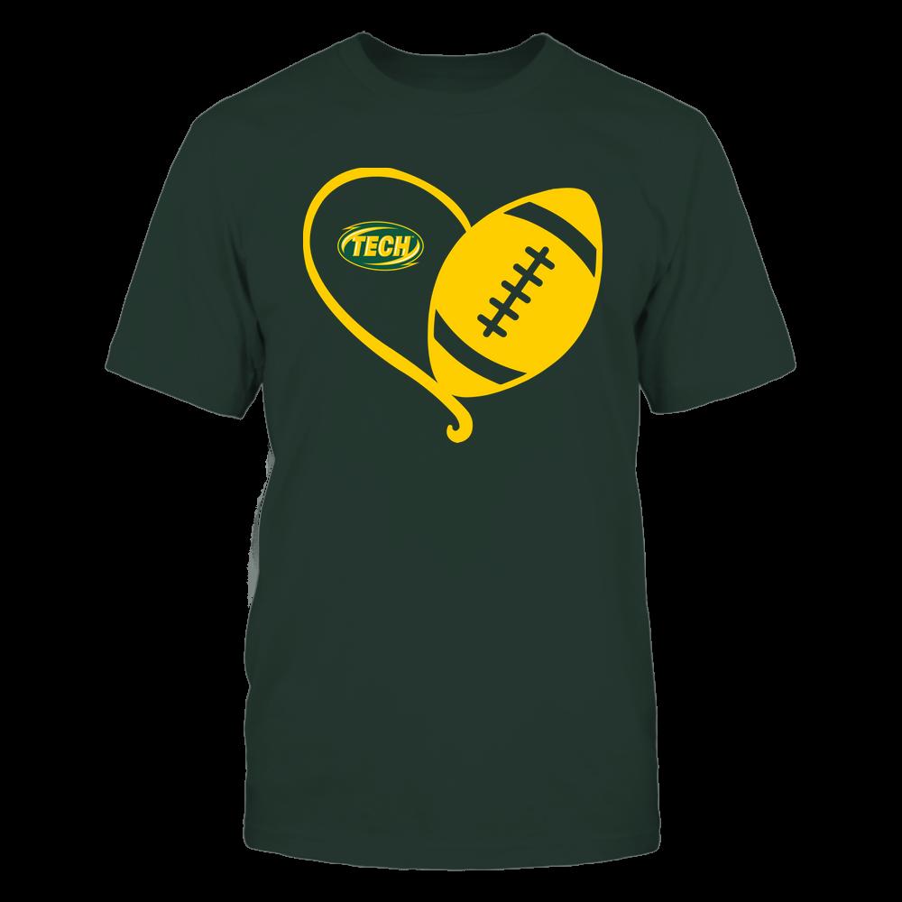 Arkansas Tech Golden Suns - Half Football Heart - Team Front picture