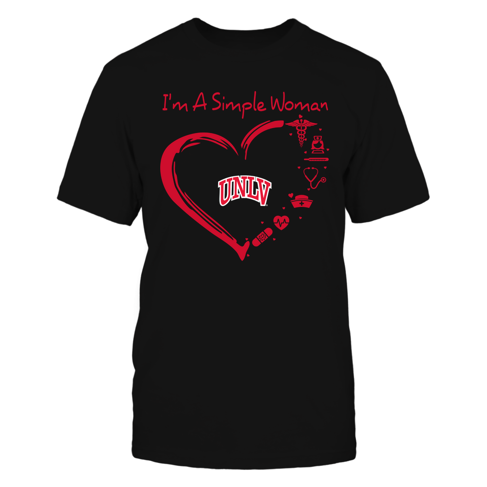 UNLV Rebels - Heart Outline - Nurse Things Front picture