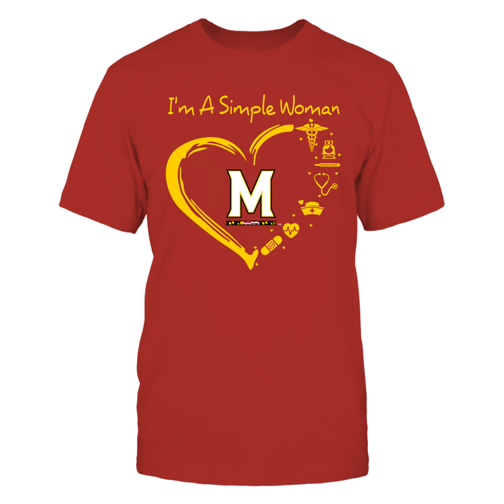 Maryland Terrapins - Heart Outline - Nurse Things Front picture