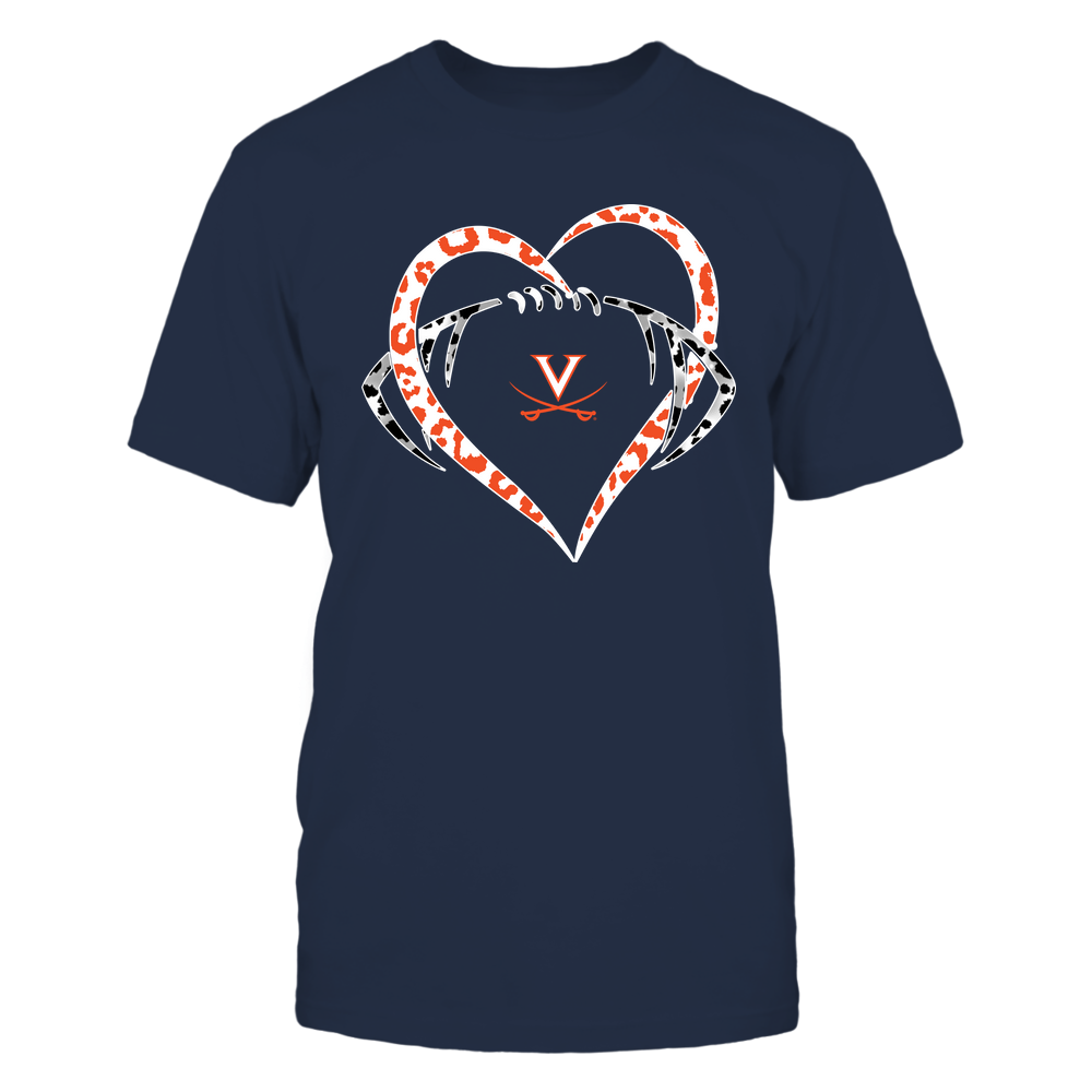 Virginia Cavaliers - Leopard Heart - Football - Team Front picture