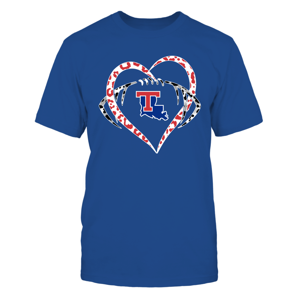 Louisiana Tech Bulldogs - Leopard Heart - Football - Team Front picture
