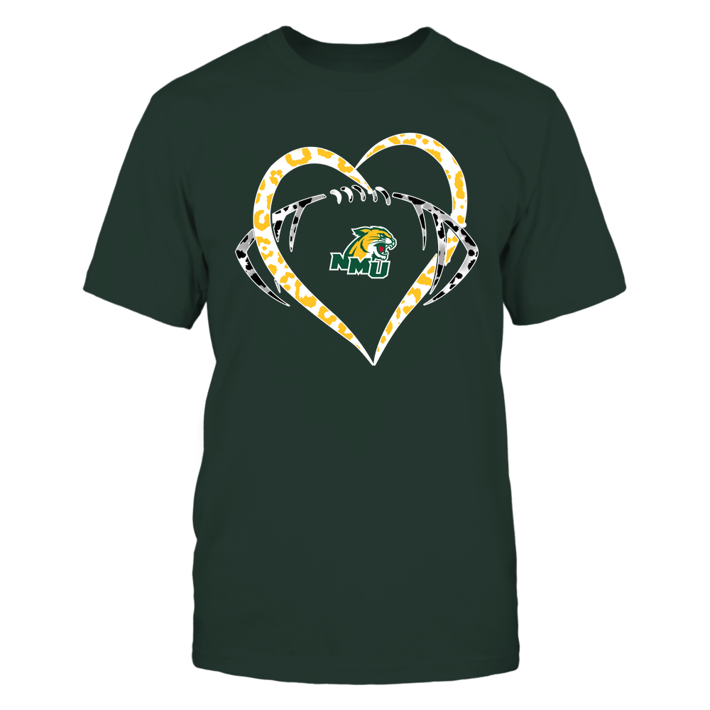 Northern Michigan Wildcats - Leopard Heart - Football - Team Front picture