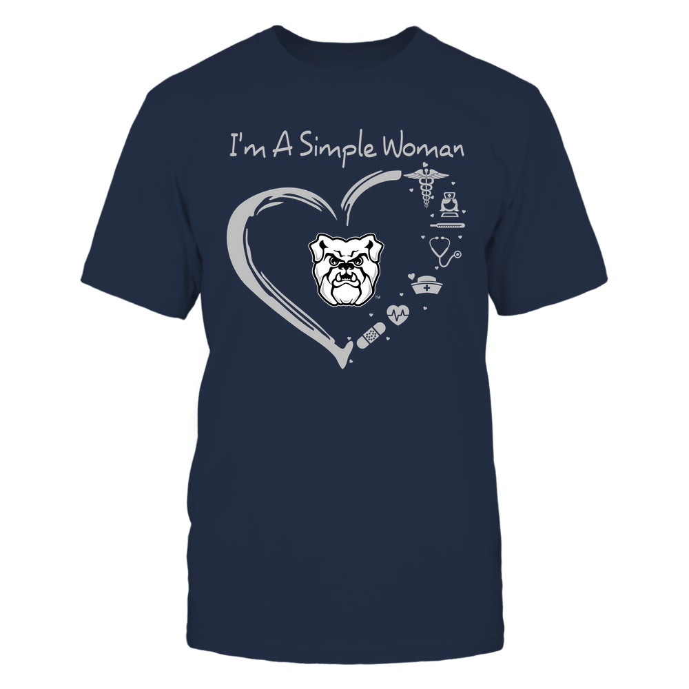 Butler Bulldogs - Heart Outline - Nurse Things Front picture