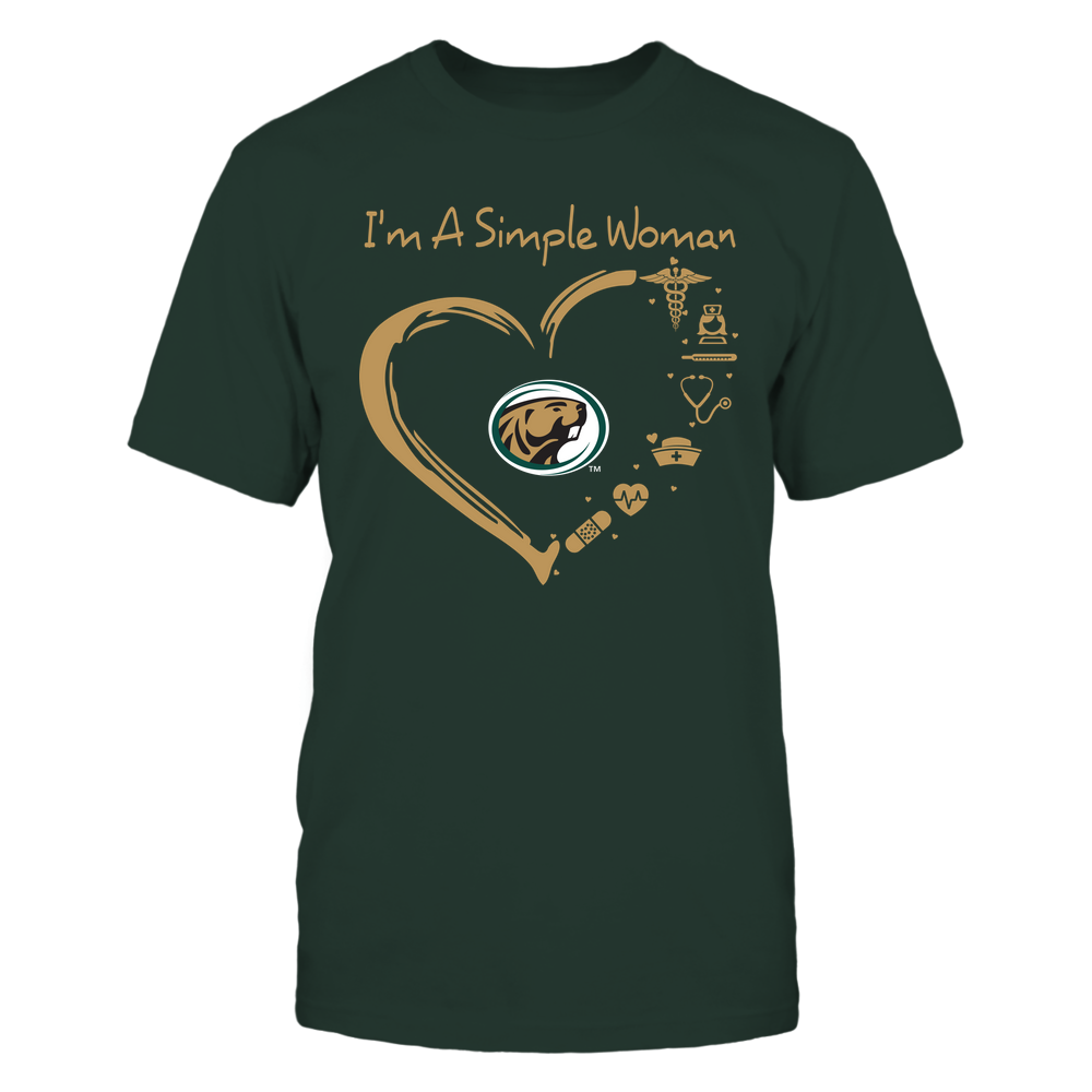 Bemidji State Beavers - Heart Outline - Nurse Things Front picture