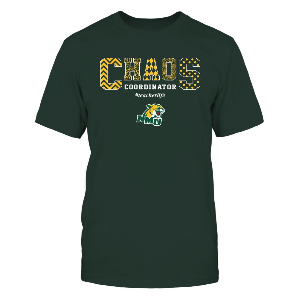 Northern Michigan Wildcats - Teacher - Chaos Coordianator Front picture