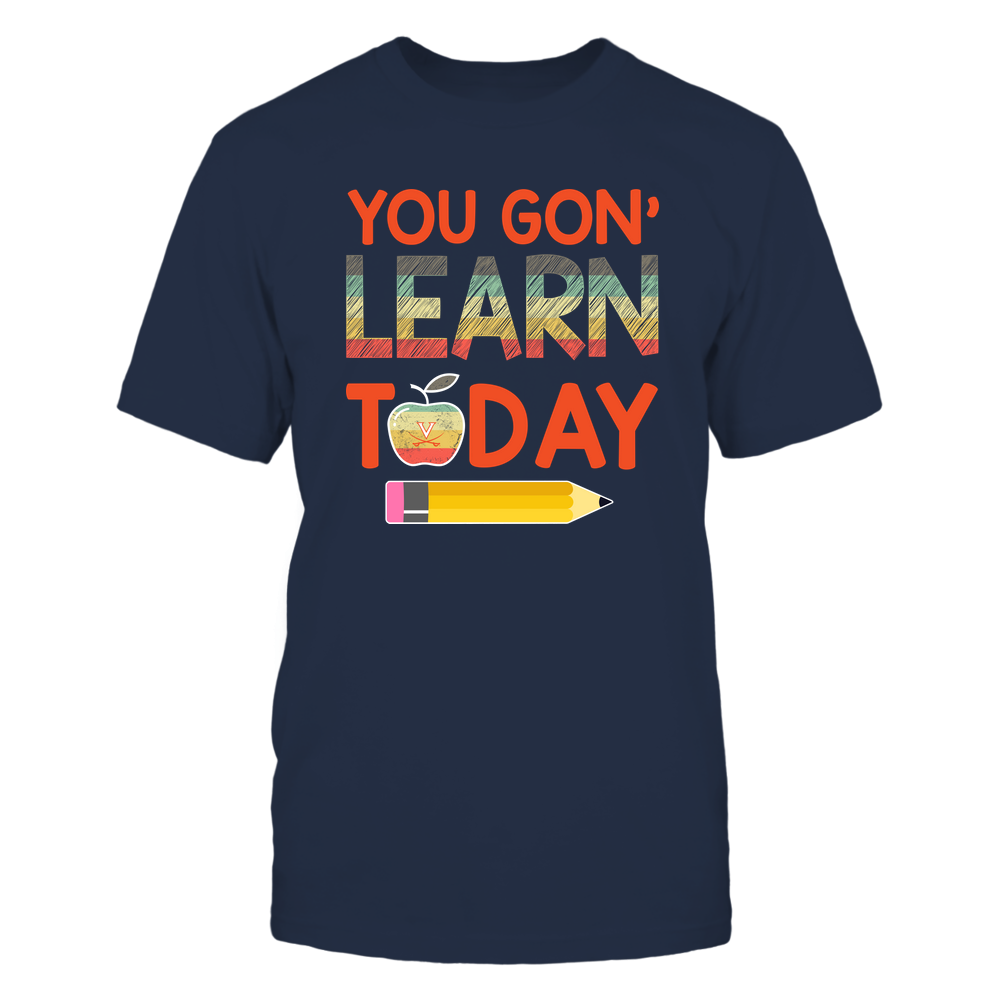 Virginia Cavaliers - Learn Today - Team Logo Inside Vintage Apple Front picture