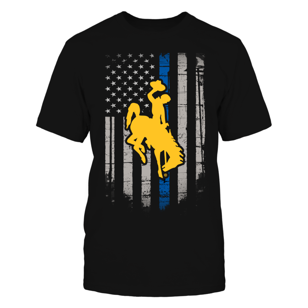 Thin Blue Line - Wyoming Cowboys Front picture