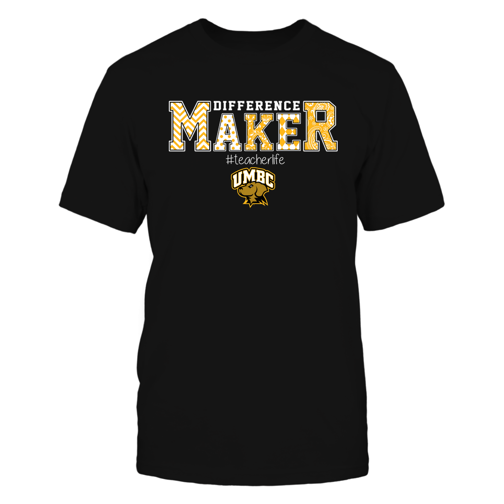 UMBC Retrievers - Teacher - Difference Maker Front picture