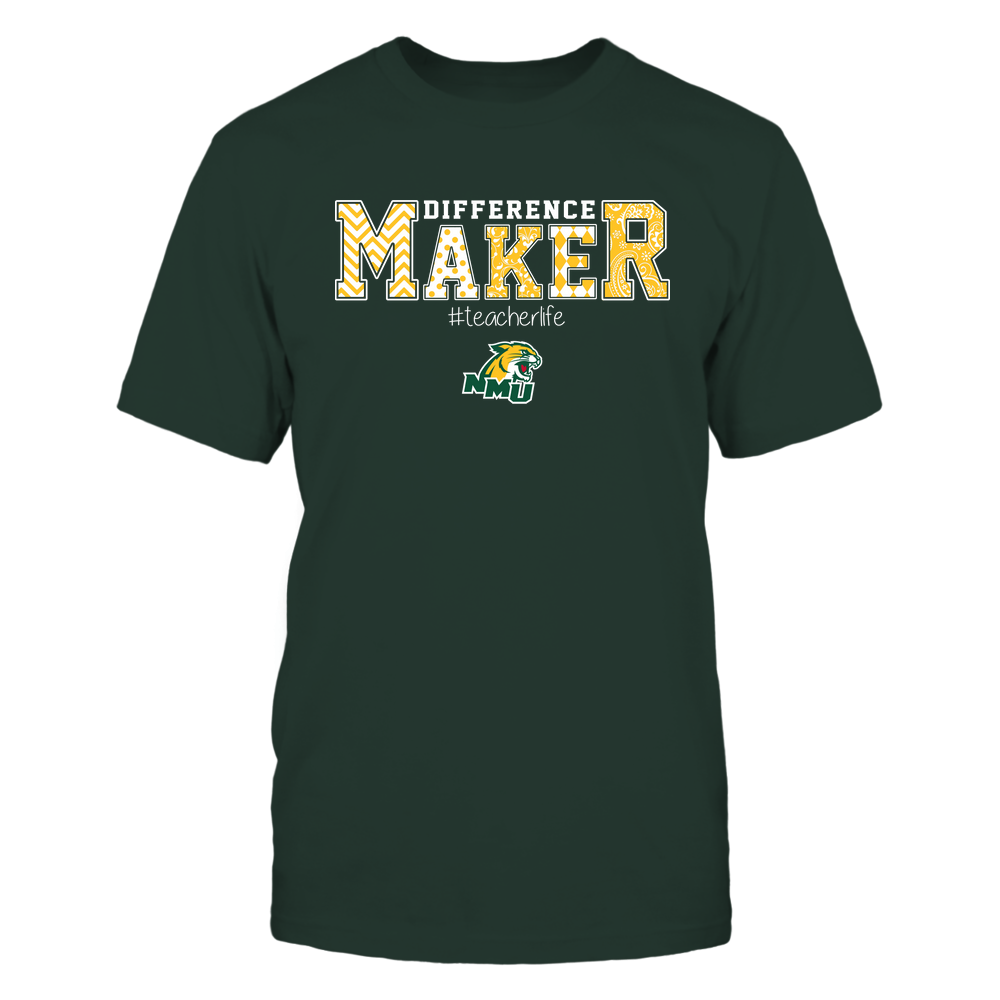 Northern Michigan Wildcats - Teacher - Difference Maker Front picture