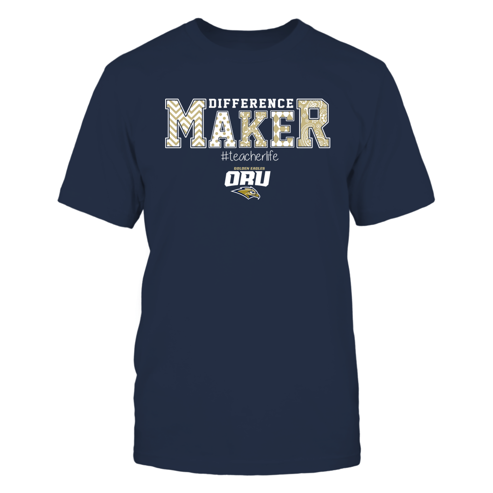 Oral Roberts Golden Eagles - Teacher - Difference Maker Front picture