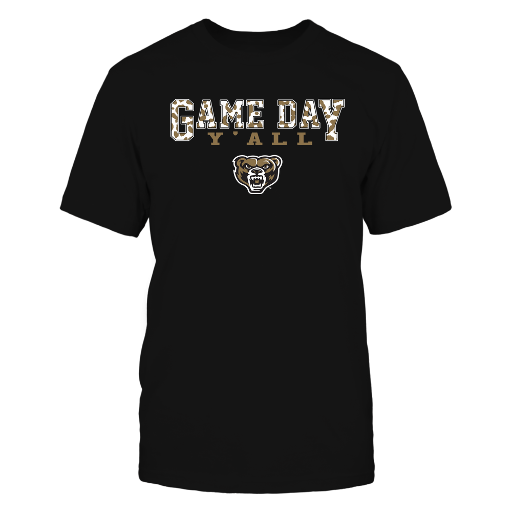 Oakland Golden Grizzlies - Gameday Y'all - Leopard Pattern - Team Front picture