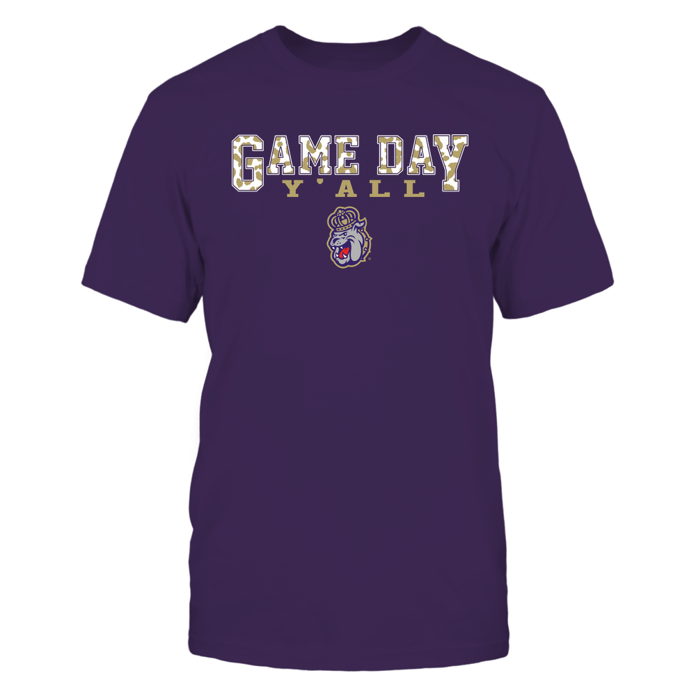 James Madison Dukes - Gameday Y'all - Leopard Pattern - Team Front picture