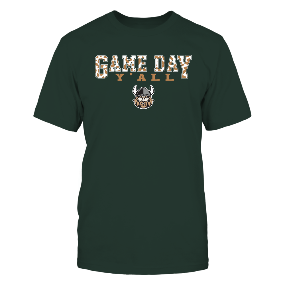 Cleveland State Vikings - Gameday Y'all - Leopard Pattern - Team Front picture