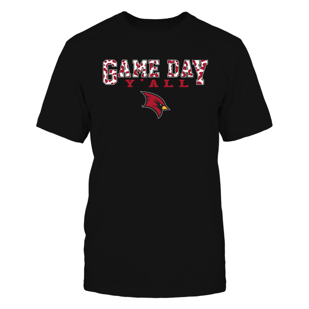 Saginaw Valley State Cardinals - Gameday Y'all - Leopard Pattern - Team Front picture