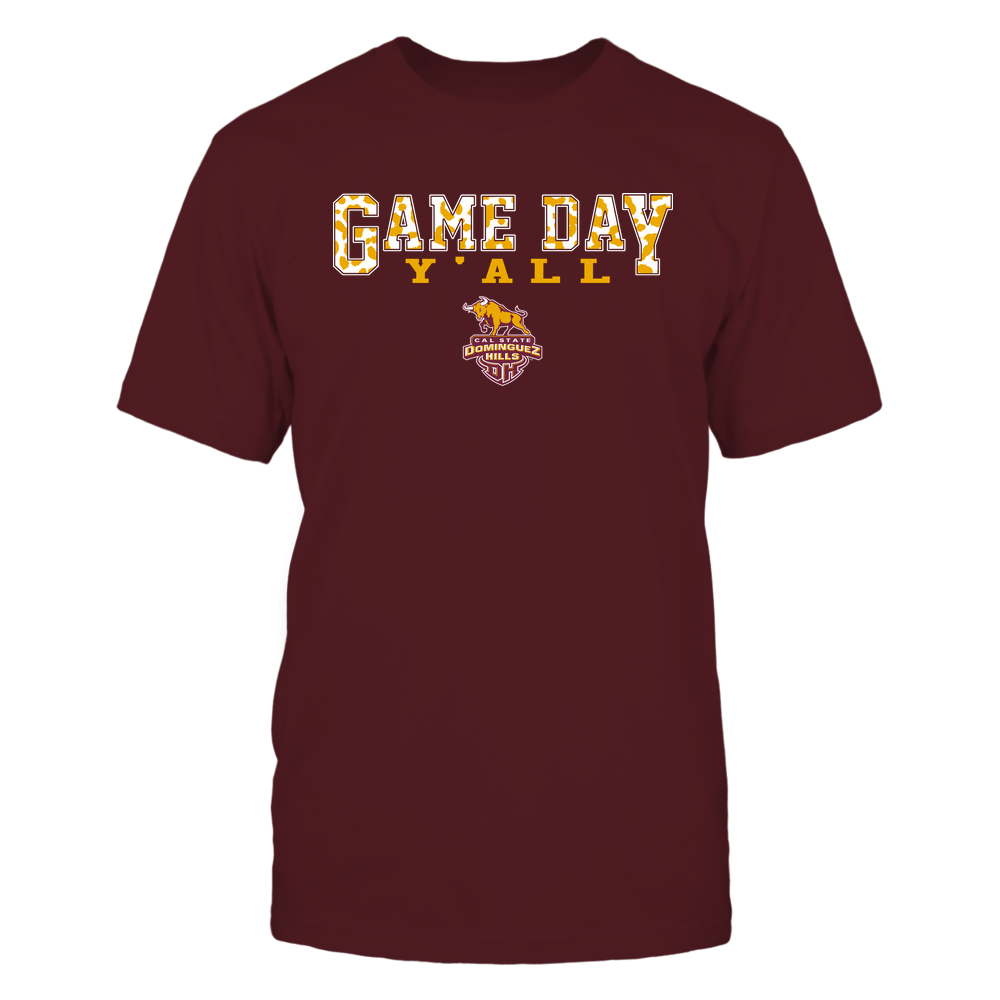 Cal State Dominguez Hills Toros - Gameday Y'all - Leopard Pattern - Team Front picture