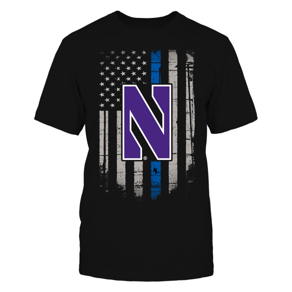 Thin Blue Line - Northwestern Wildcats Front picture