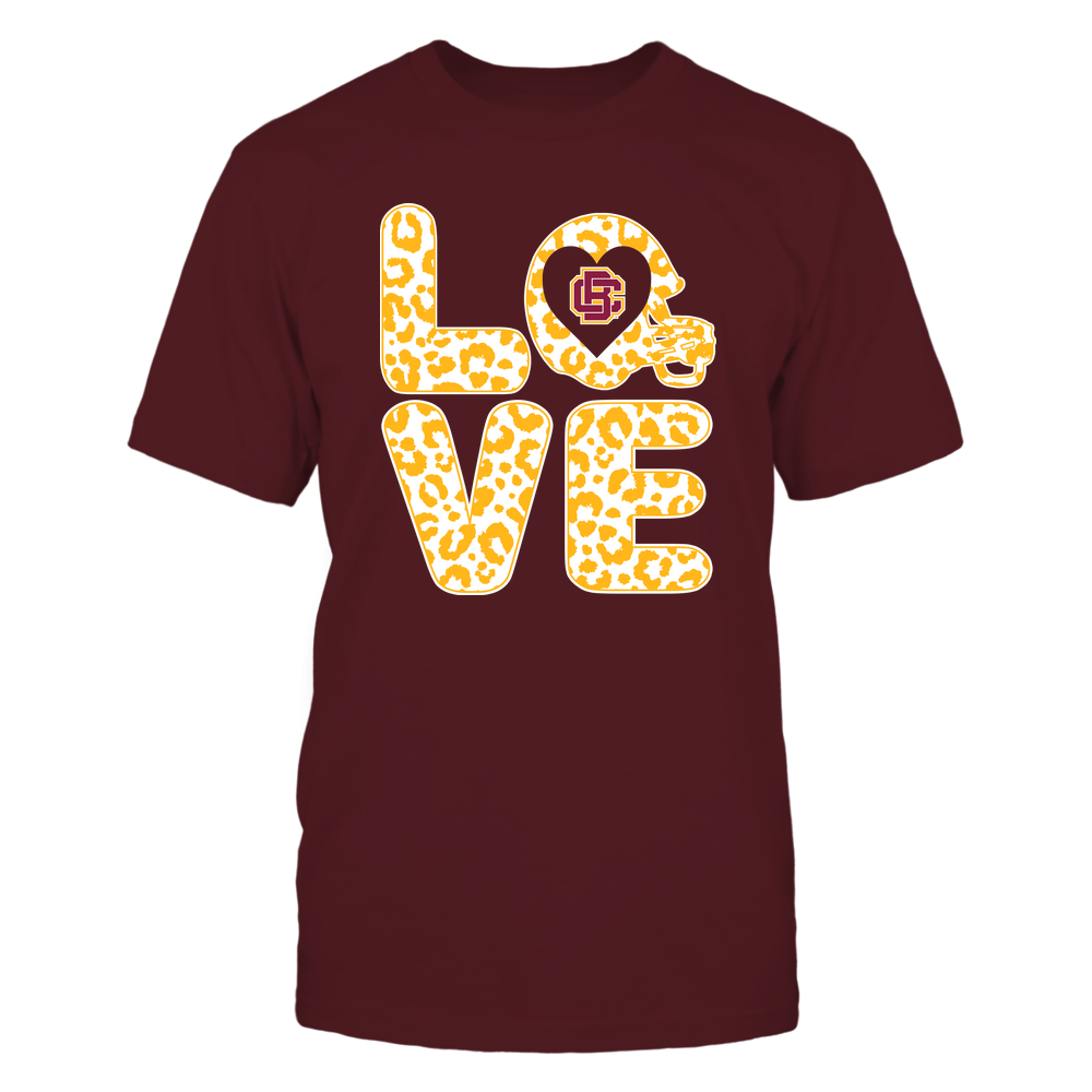 Bethune-Cookman Wildcats - Stacked Love - Leopard Football Helmet Front picture
