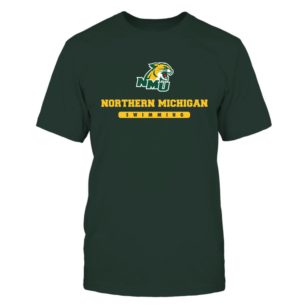 Northern Michigan Wildcats - School - Logo - Swimming Front picture
