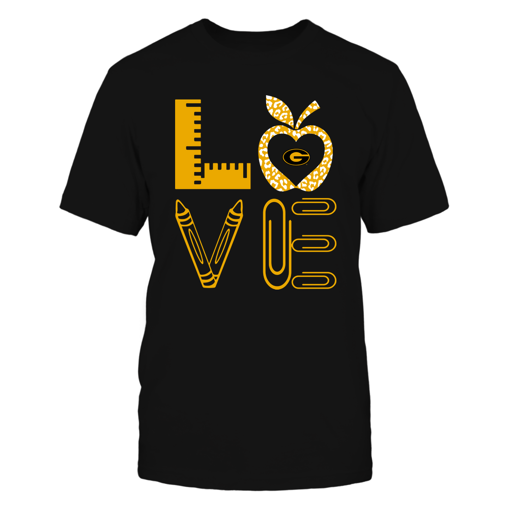 Grambling State Tigers - Stacked Love - Teacher Things - Leopard Apple Front picture