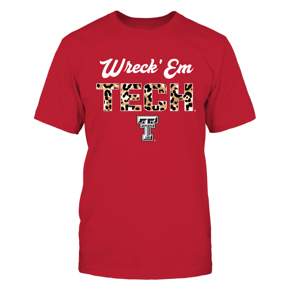 Texas Tech Red Raiders - Leopard Patterned Letters Slogan - IF13-IC13-DS37 Front picture