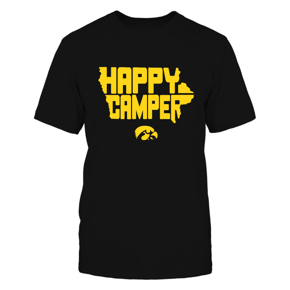 Iowa Hawkeyes - Camping - Happy Camper Inside State Map - IF13-IC13-DS45 Front picture