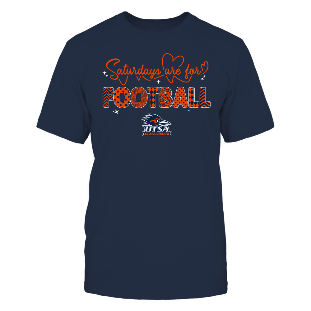 UTSA Roadrunners - 19090910241 - APC - Saturdays Are For Football - Heart Beat Pattern - IF17-IC17-DS27 Front picture