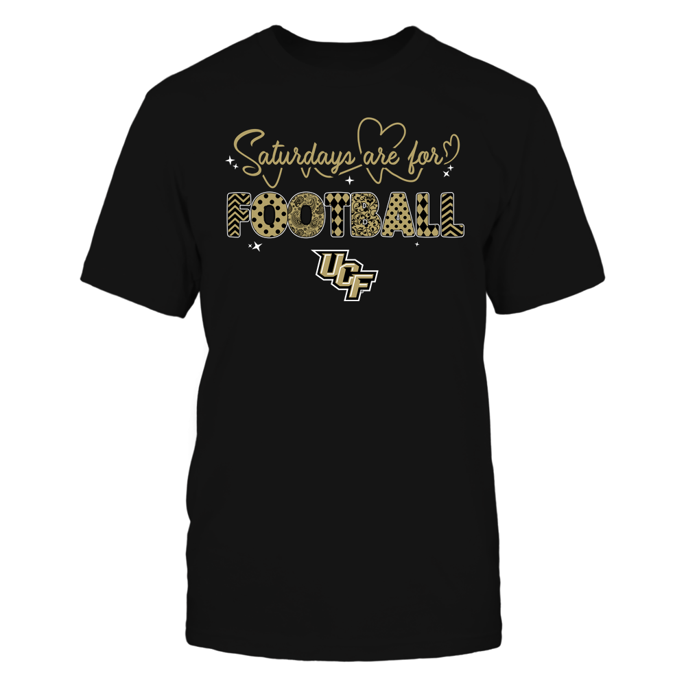 UCF Knights - 19090910241 - APC - Saturdays Are For Football - Heart Beat Pattern - IF17-IC17-DS27 Front picture