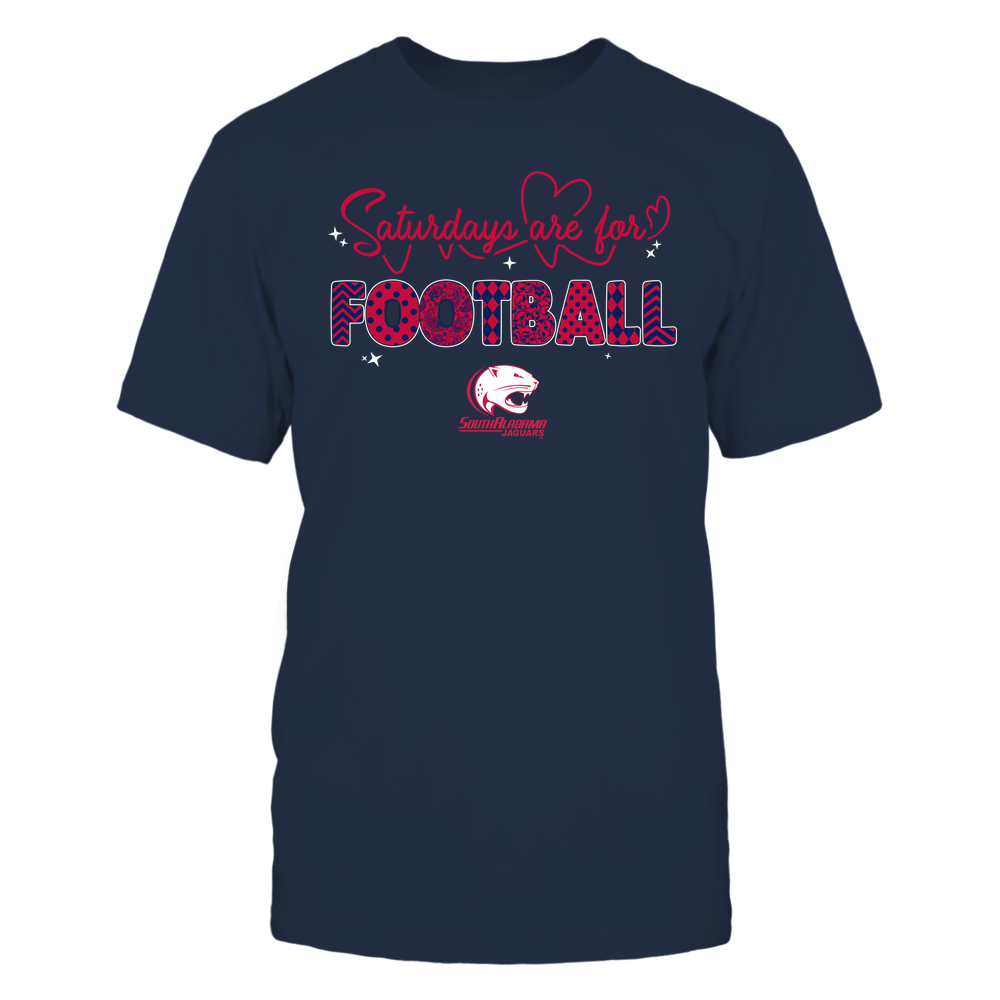 South Alabama Jaguars - 19090910241 - APC - Saturdays Are For Football - Heart Beat Pattern - IF17-IC17-DS27 Front picture