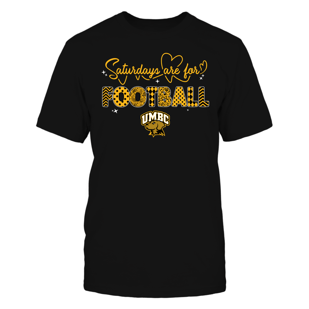 UMBC Retrievers - 19090910241 - APC - Saturdays Are For Football - Heart Beat Pattern - IF17-IC17-DS27 Front picture