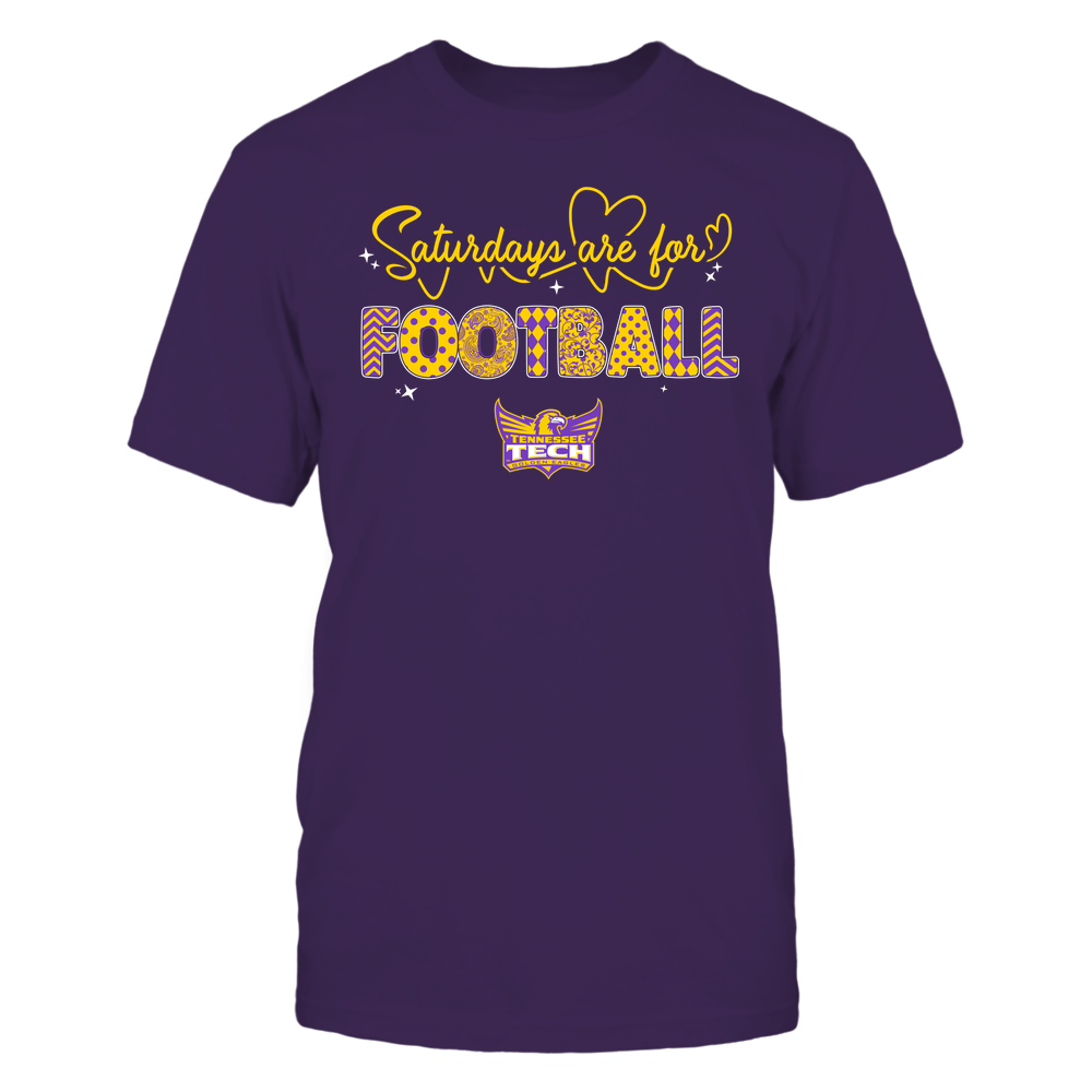 Tennessee Tech Golden Eagles - 19090910241 - APC - Saturdays Are For Football - Heart Beat Pattern - IF17-IC17-DS27 Front picture