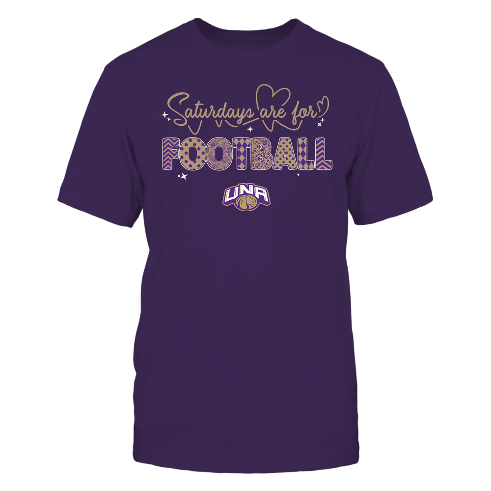 North Alabama Lions - 19090910241 - APC - Saturdays Are For Football - Heart Beat Pattern - IF17-IC17-DS27 Front picture