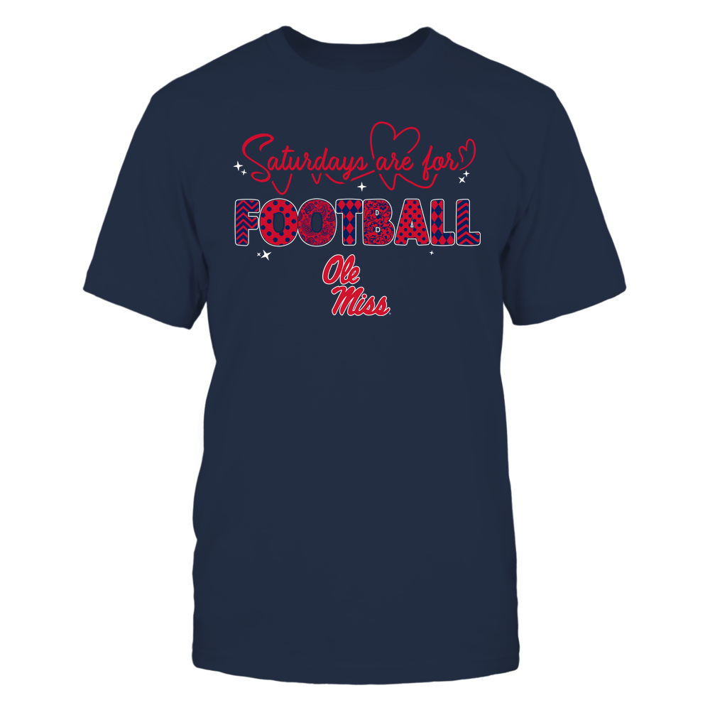 Ole Miss Rebels - 19090910241 - APC - Saturdays Are For Football - Heart Beat Pattern - IF17-IC17-DS27 Front picture