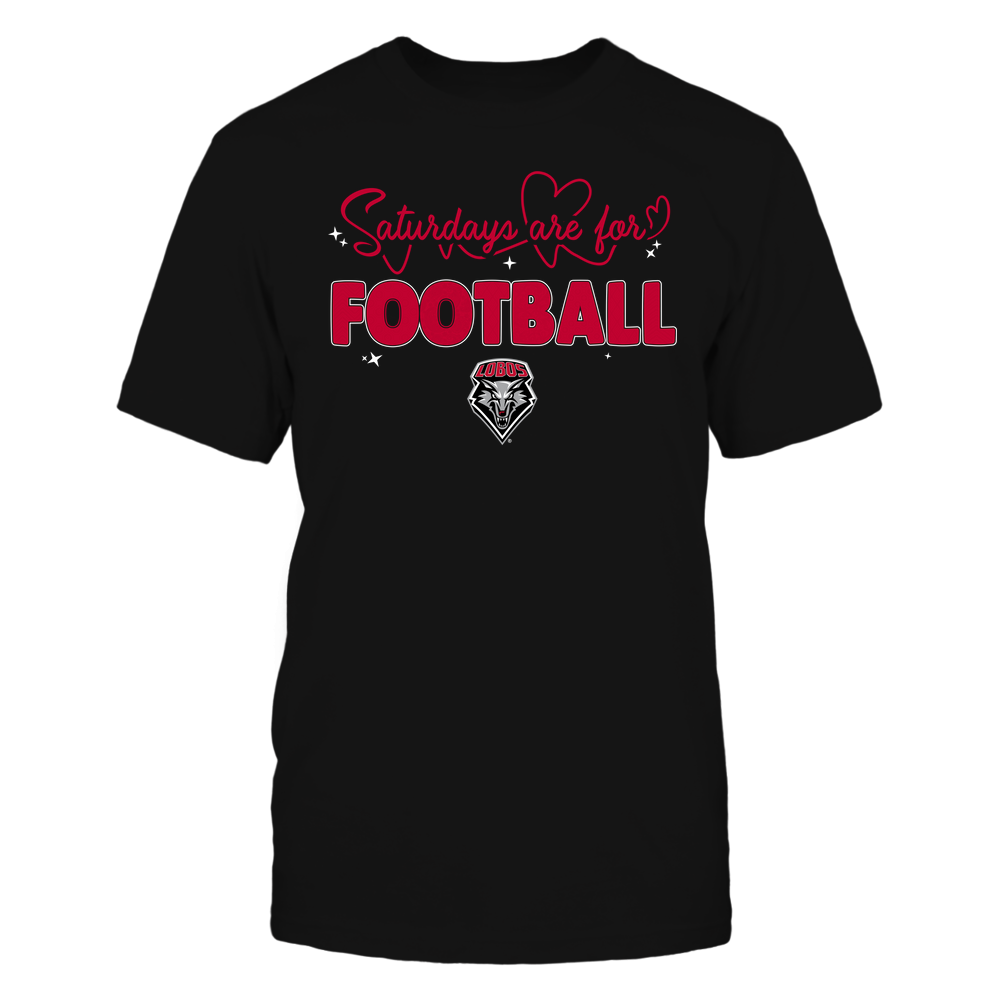 New Mexico Lobos - 19090910241 - APC - Saturdays Are For Football - Heart Beat Pattern - IF17-IC17-DS27 Front picture