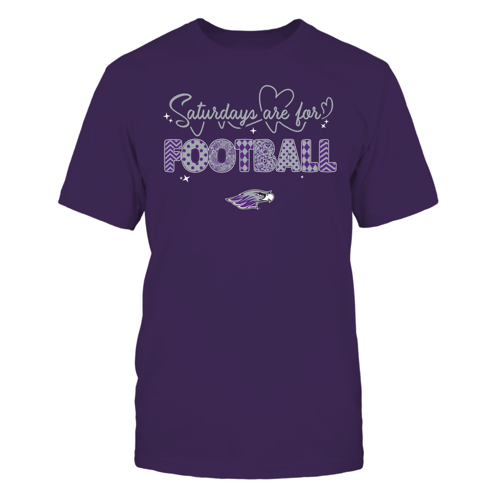 Wisconsin-Whitewater Warhawks - 19090910241 - APC - Saturdays Are For Football - Heart Beat Pattern - IF17-IC17-DS27 Front picture