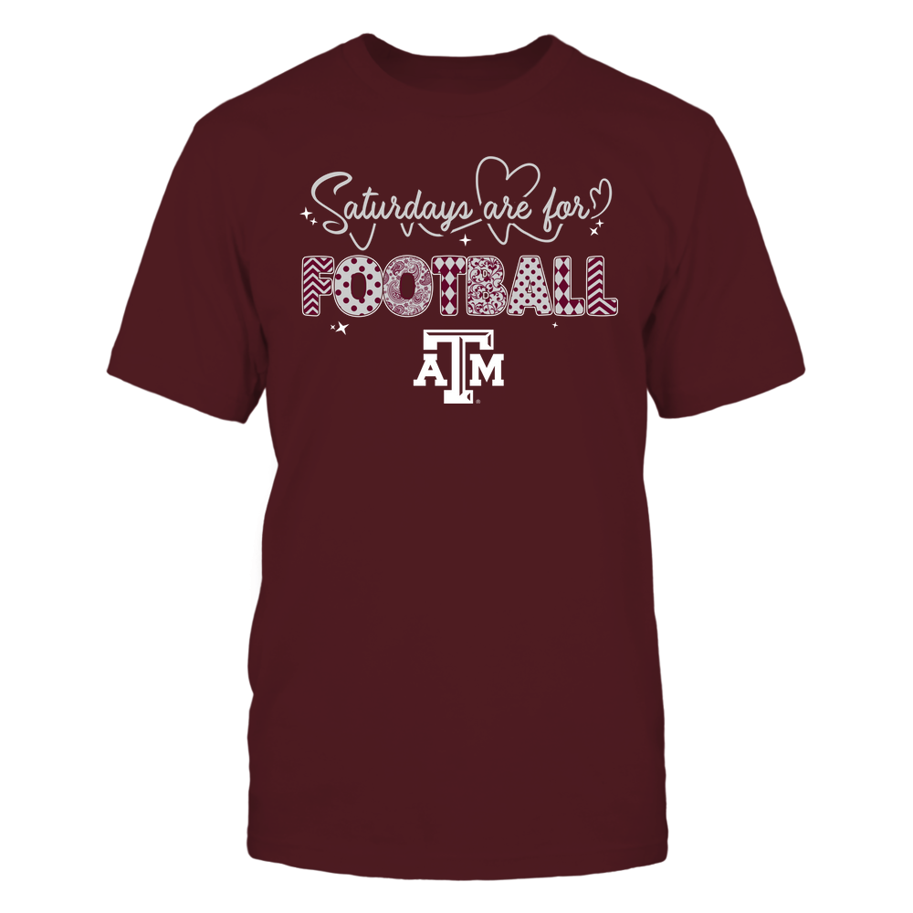 Texas A&M Aggies - 19090910241 - APC - Saturdays Are For Football - Heart Beat Pattern - IF17-IC17-DS27 Front picture