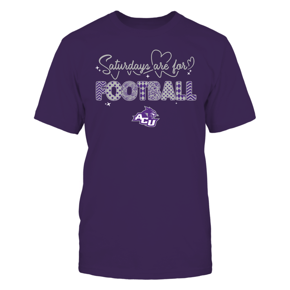 Abilene Christian Wildcats - 19090910241 - APC - Saturdays Are For Football - Heart Beat Pattern - IF17-IC17-DS27 Front picture