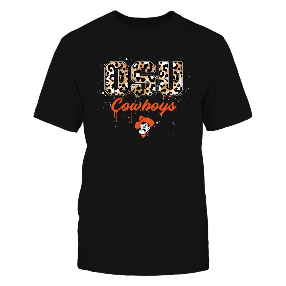 Oklahoma State Cowboys - Color-Drop-Leopard-Pattern-Letters-IF32-IC32-DS75 Front picture