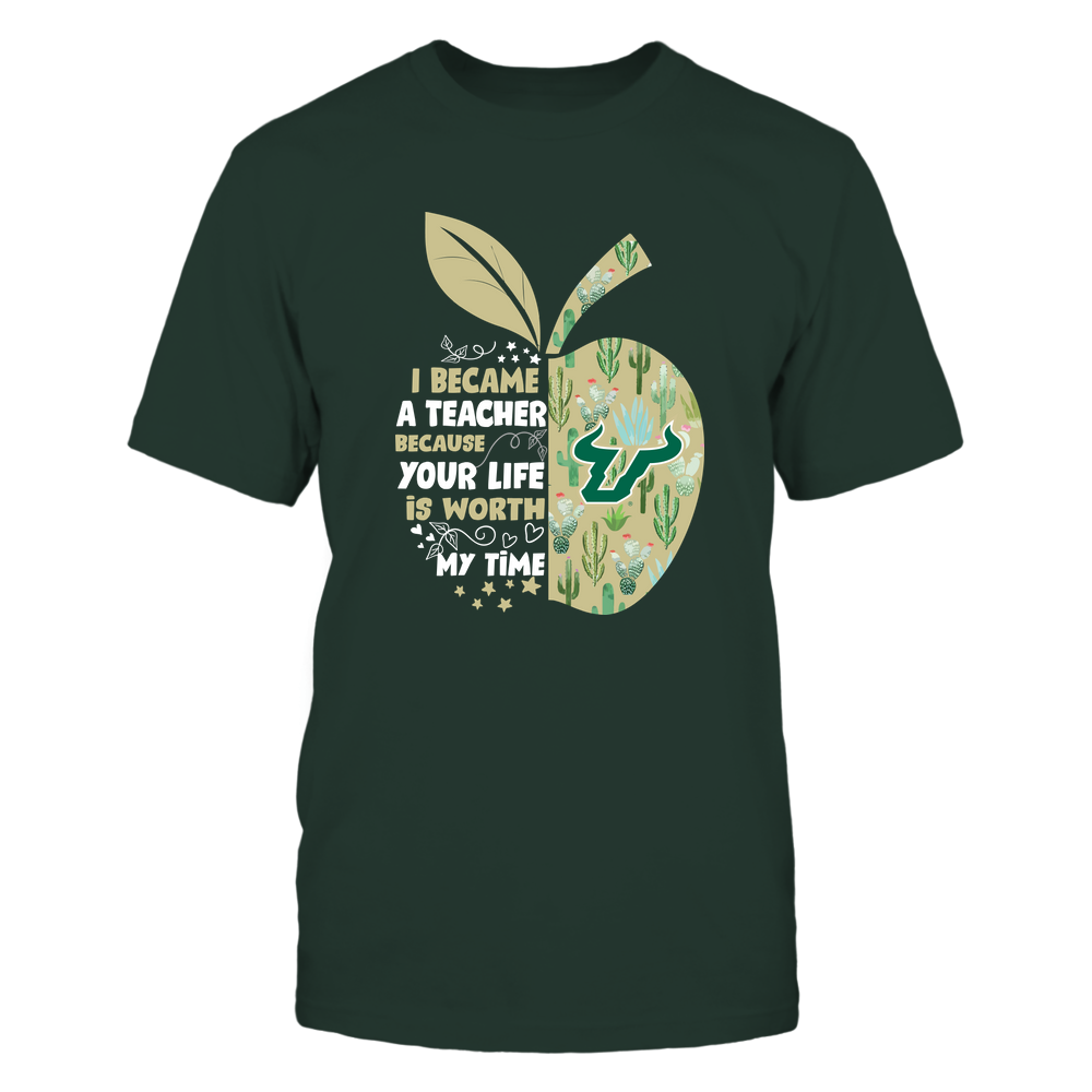 South Florida Bulls - Teacher-I-Became-Cactus-Pattern-IF82-IC82-DS83 Front picture