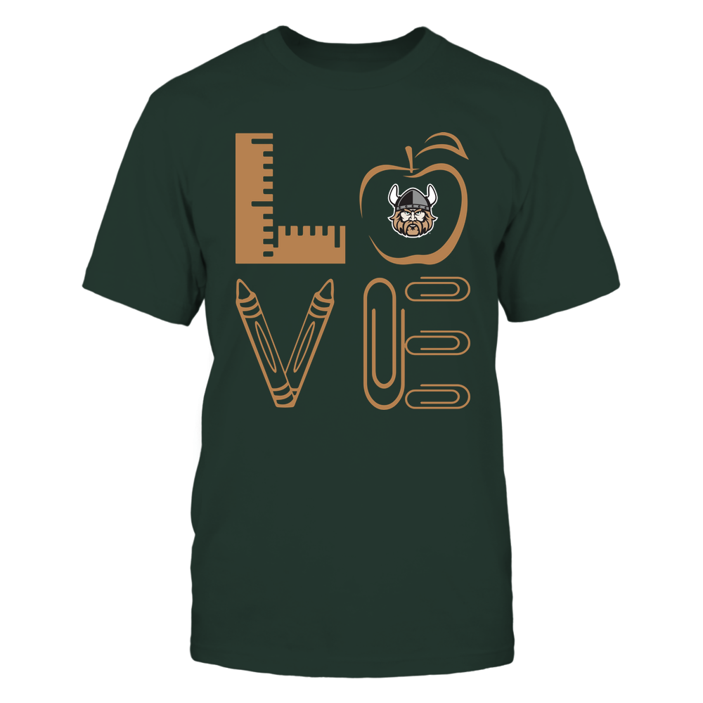 Cleveland State Vikings - 19062710884 - Stacked Love - Teacher Things - APCX Front picture