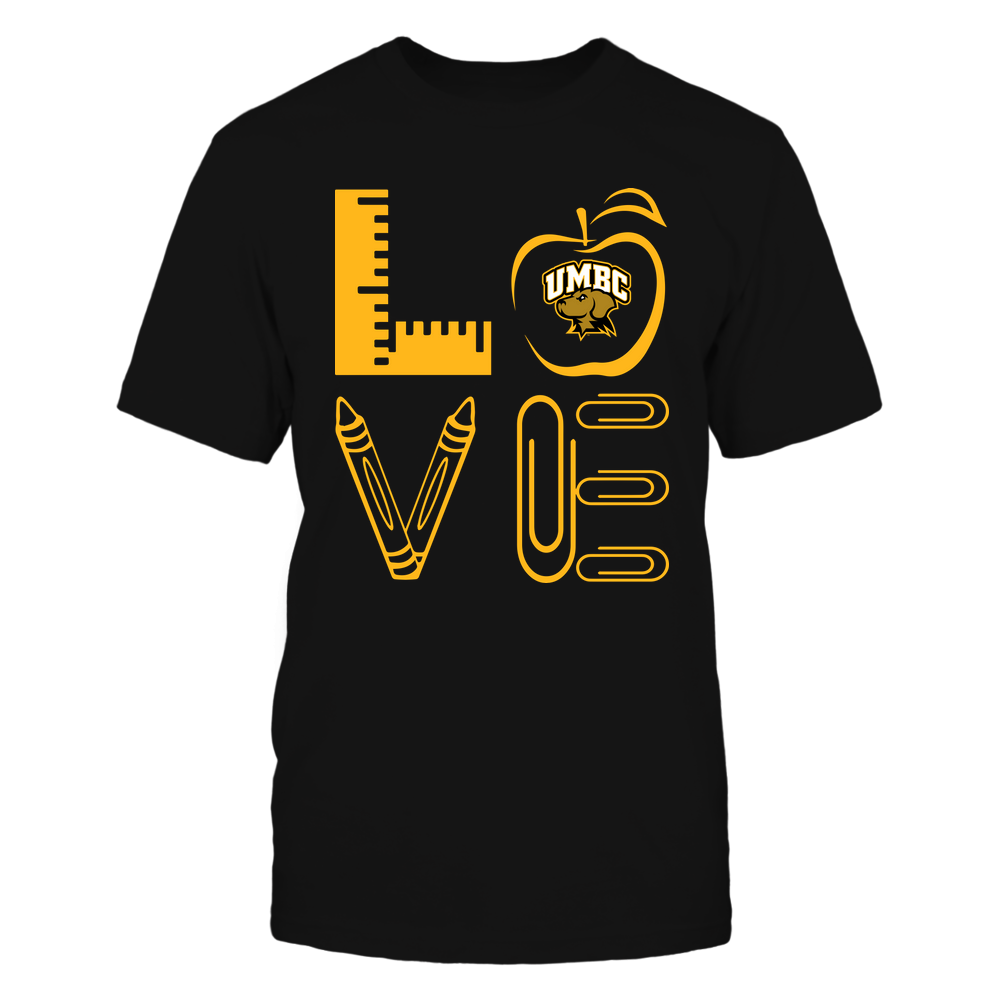 UMBC Retrievers - 19062710884 - Stacked Love - Teacher Things - APCX Front picture