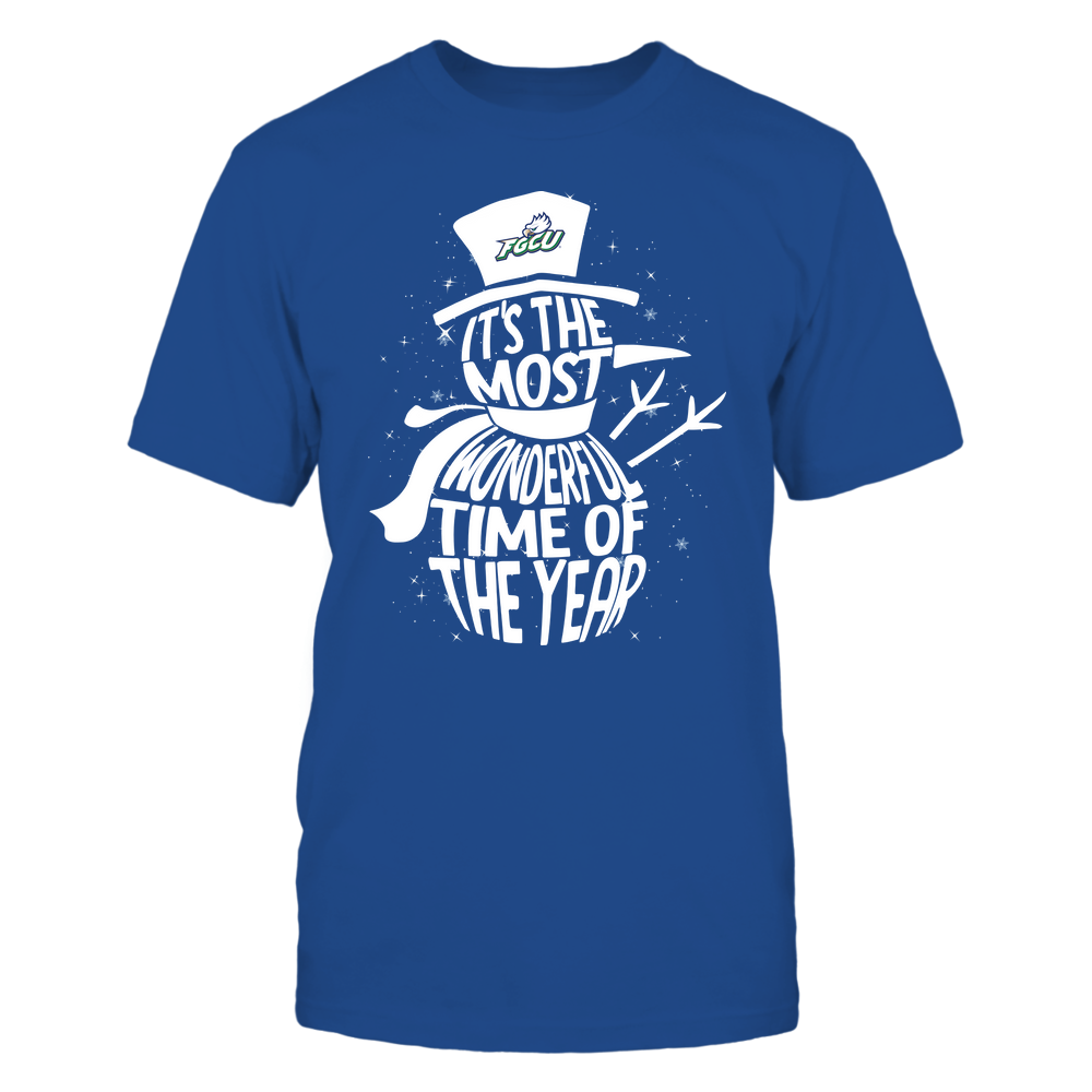 Florida Gulf Coast Eagles - 19091610063 - Snowman - Most Wonderful Time - APCX - IF13-IC13-DS27 Front picture