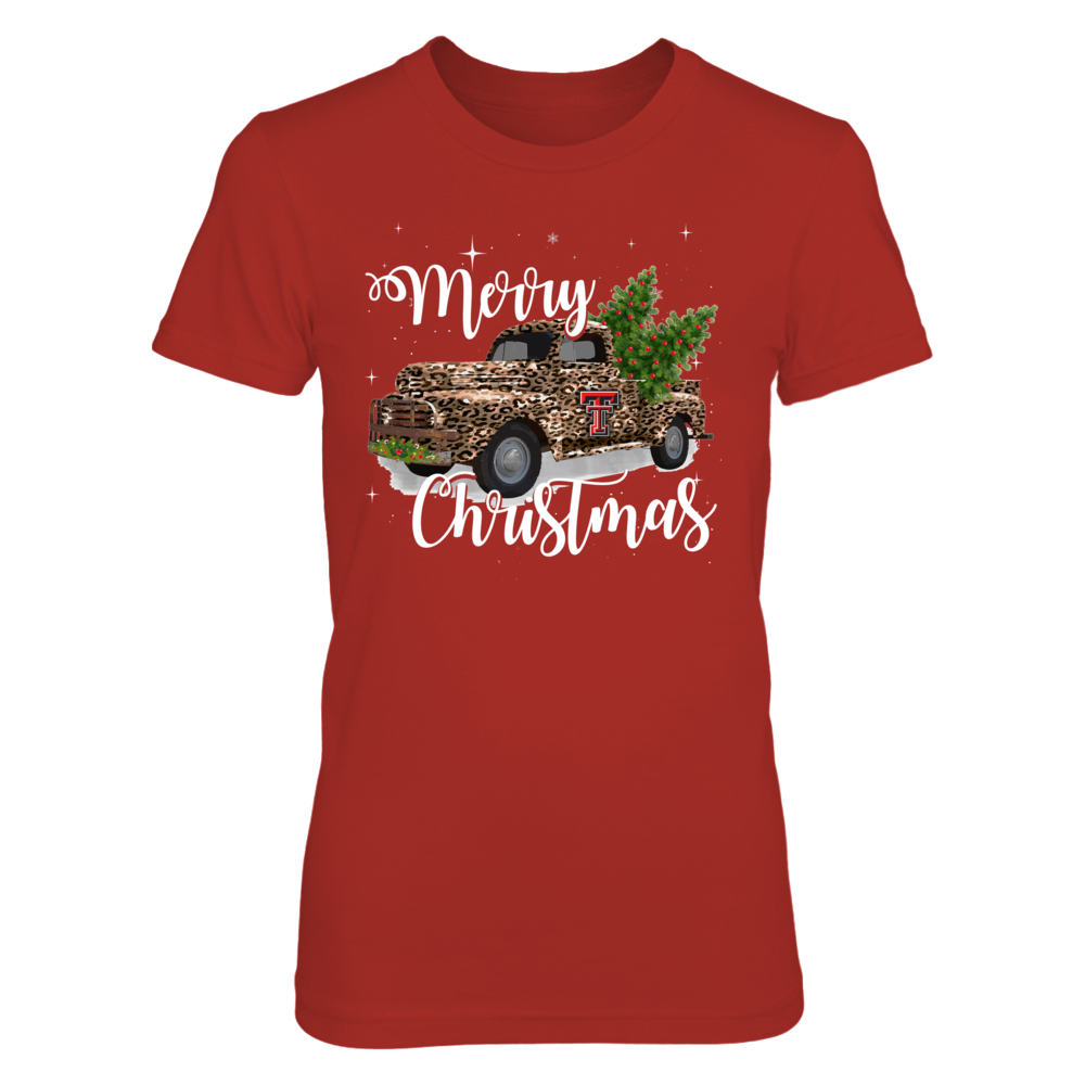 Texas Tech Red Raiders - Christmas-Leopard-Christmas-Truck-IF13-IC13-DS27 Front picture