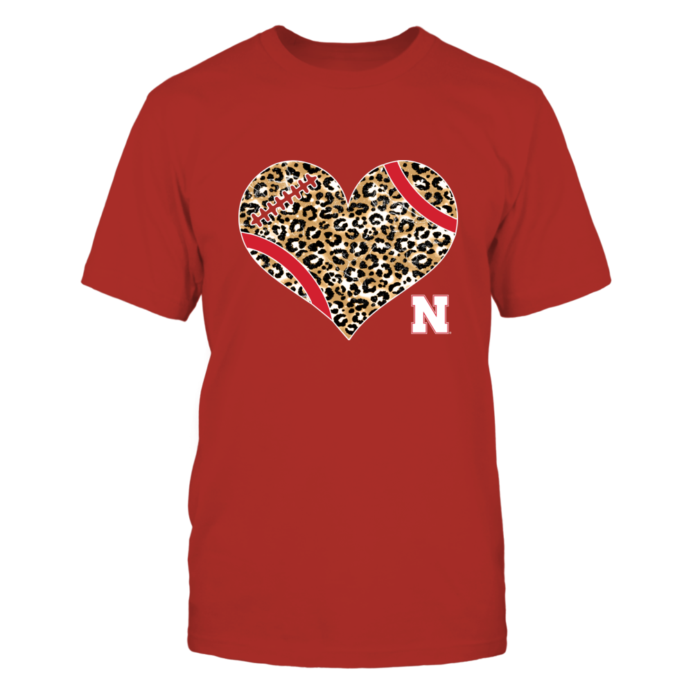 Nebraska Cornhuskers - Heart-Football-Leopard-IF17-IC17-DS63 Front picture