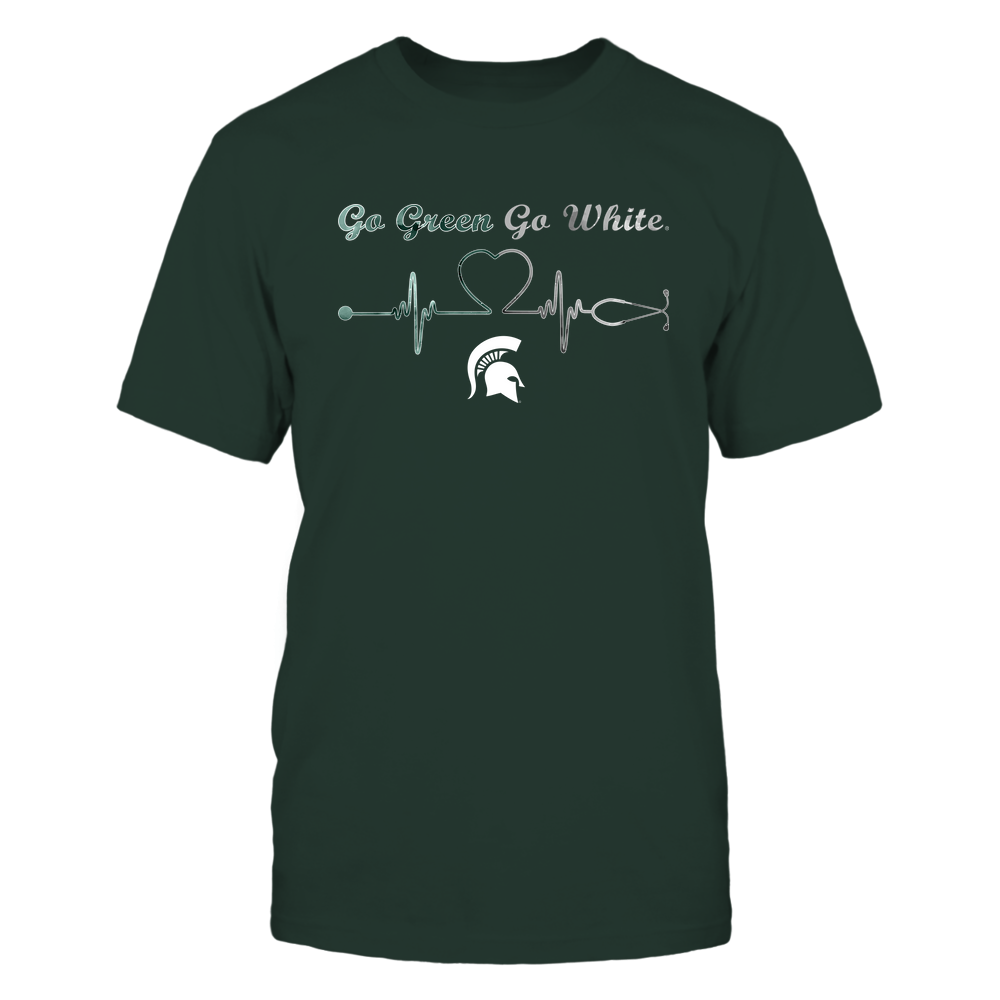 Michigan State Spartans - Nurse-Heart-Stethoscope-Team-Slogan-IF78-IC78-DS75 Front picture