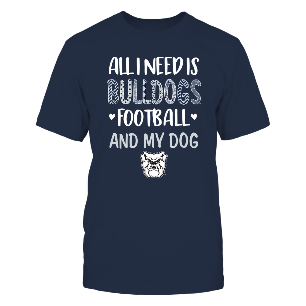 Butler Bulldogs - All-I-Need-Football-and-Dog-Pattern-Letters-IF32-IC32-DS45 Front picture